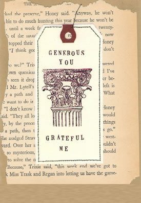 GENEROUS YOU - GREETING CARD