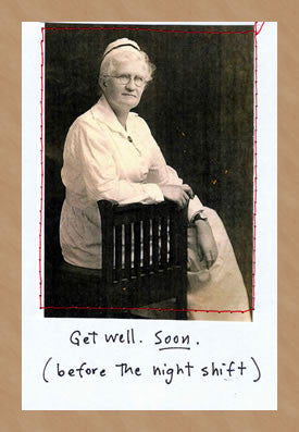 GET WELL SOON - GREETING CARD