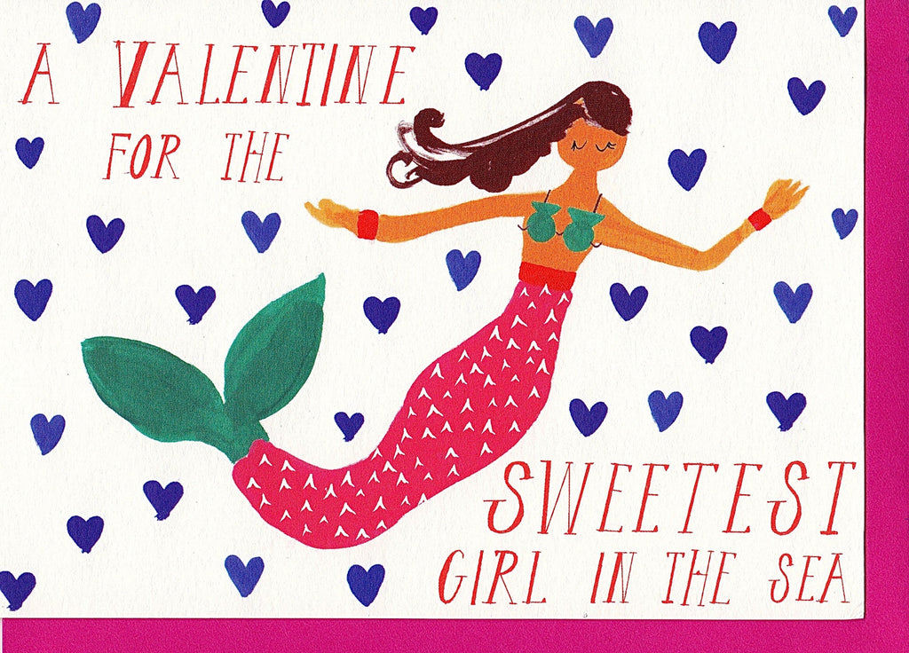 SWEETEST GIRL IN THE SEA - GREETING CARD