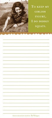 MAGNETIC LIST PAD - SM - GIRLISH FIGURE