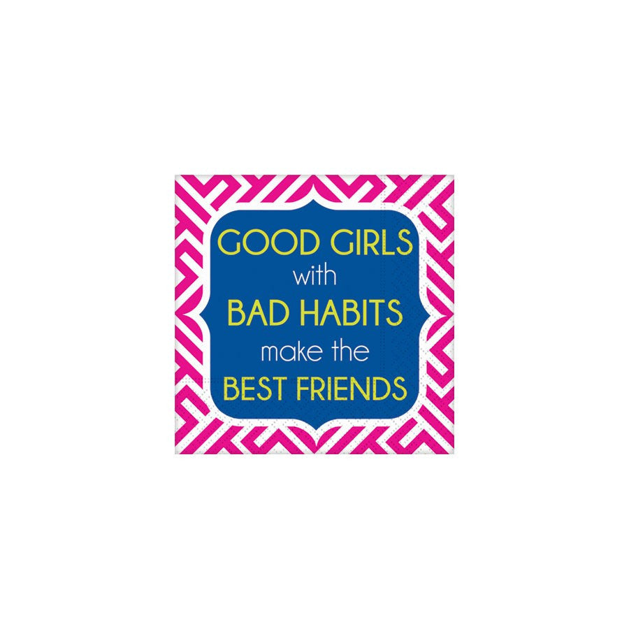 BEVERAGE NAPKINS - DD - GOOD GIRL, BAD HABITS
