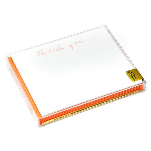 THANK YOU BOXED NOTECARDS - HP - GRACIOUS IN GOLD PEACH