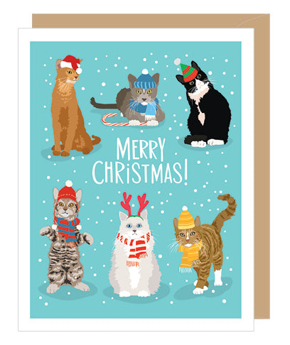 CHRISTMAS CARD - A2C - CAT CHRISTMAS