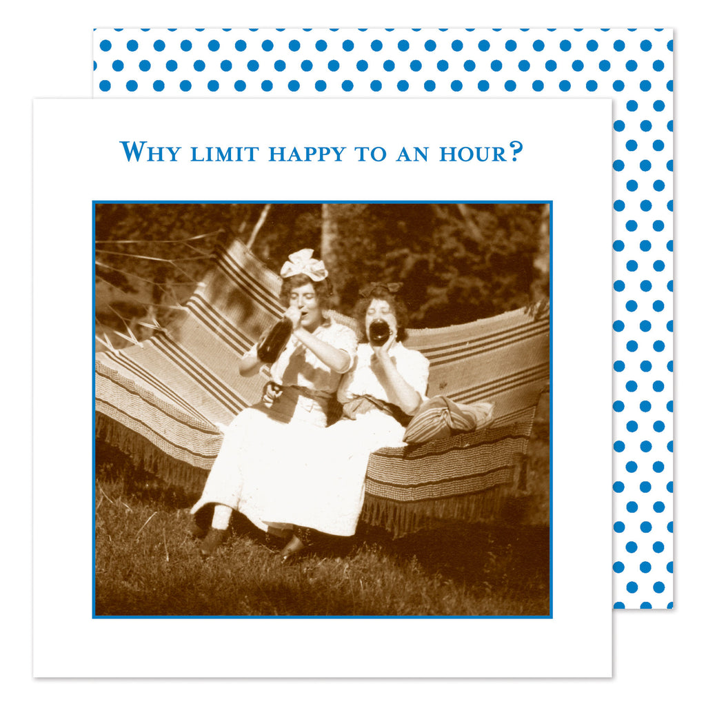 WHY LIMITED HAPPY TO AN HOUR? - BEVERAGE NAPKINS