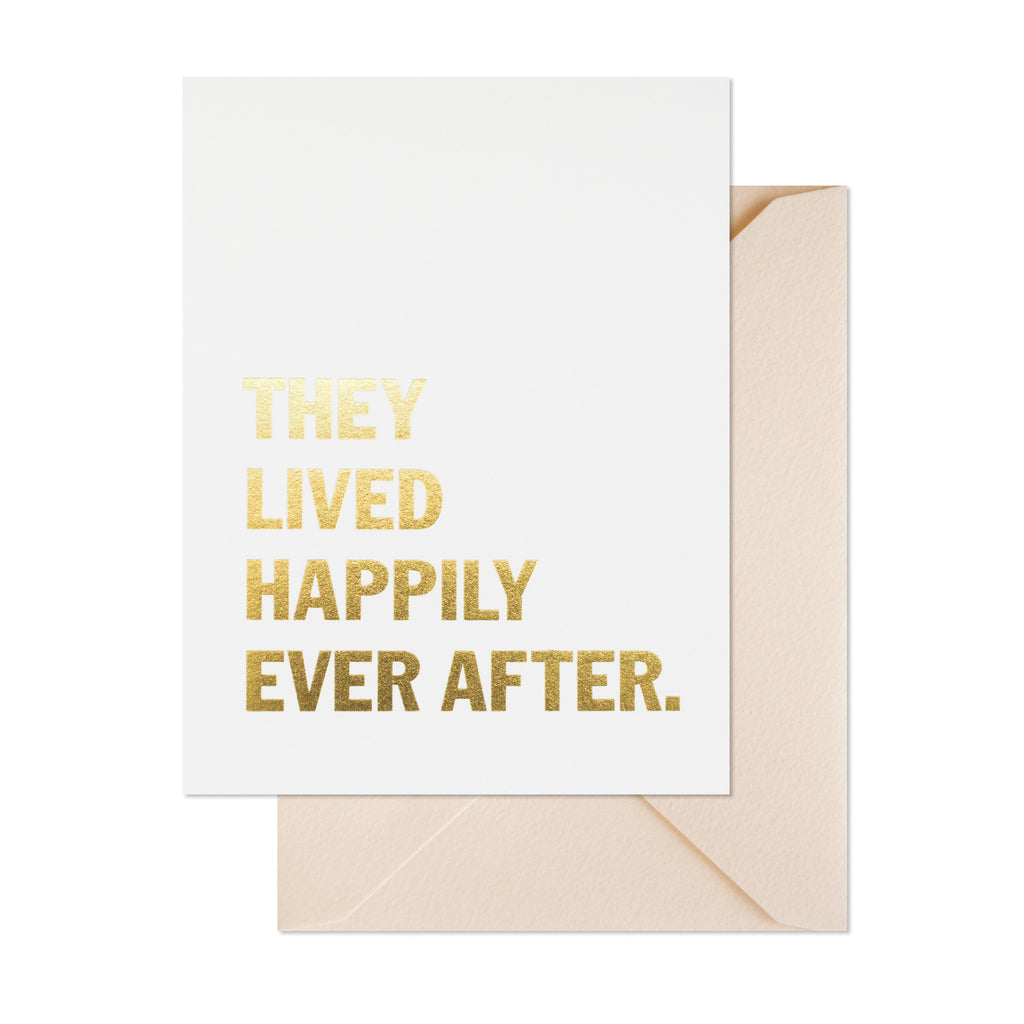 THEY LIVED HAPPILY EVER AFTER - WEDDING CARD