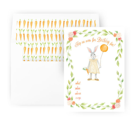 BUNNY - FILL IN INVITATIONS