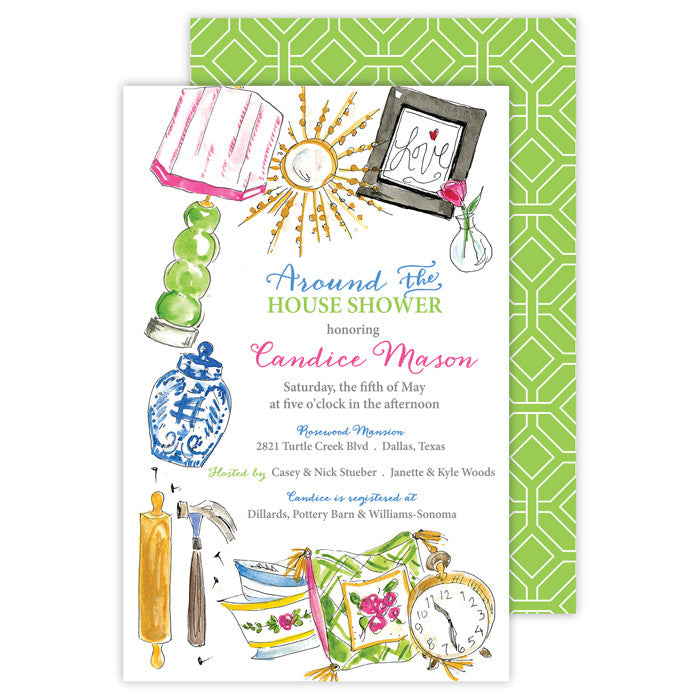 BOXED IMPRINTABLE INVITATIONS - RAB - AROUND THE HOUSE