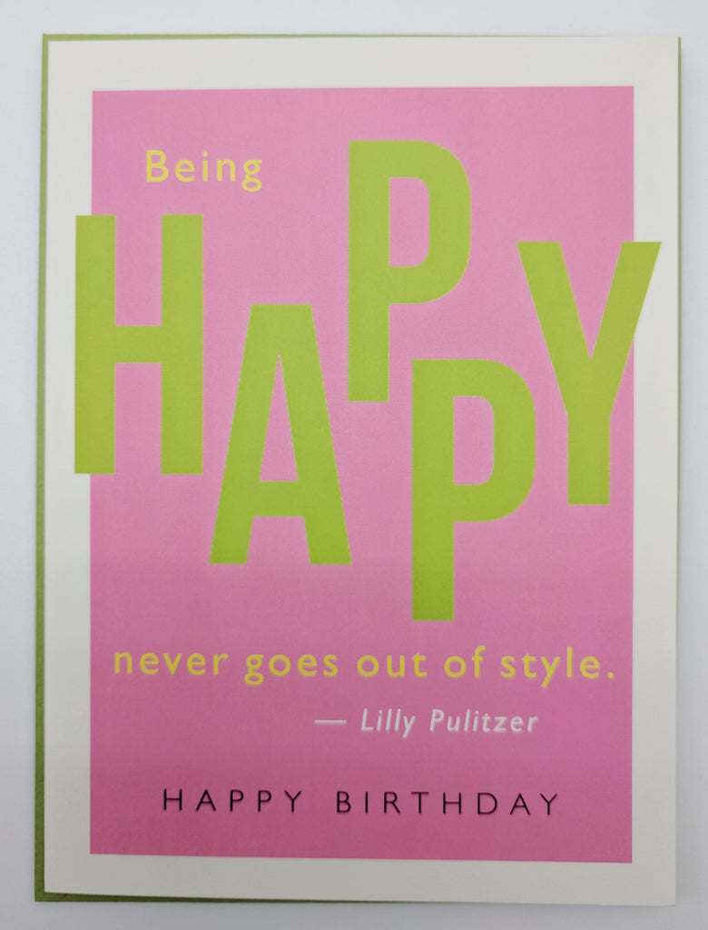 BIRTHDAY - JF - BEING HAPPY NEVER GOES OUT OF STYLE