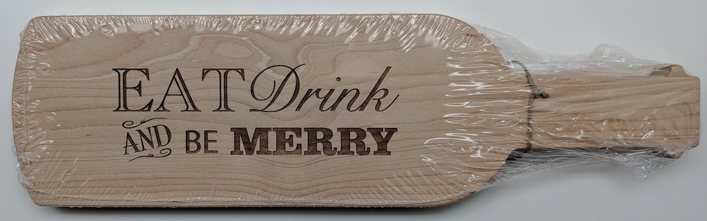 CUTTING BOARD - MLAH - EAT DRINK AND BE MERRY WINE BOARD