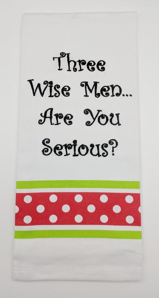 BAR TOWEL - WH - THREE WISE MEN?