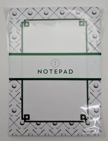 NOTE PAD - WHH - GOLF CLUB BORDER