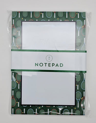 NOTEP PAD - WHH - TENNIS RACQUET BORDER