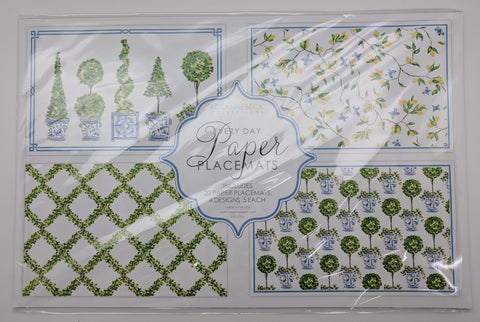 PAPER PLACEMATS - RAB - TOPIARY AND BOXWOOD