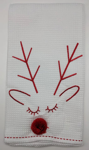 CHRISTMAS KITCHEN TOWEL -DTHY- RUDOLPH