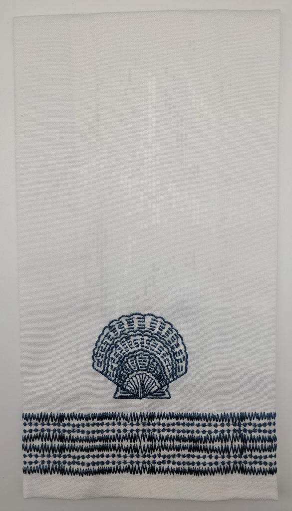 TEA TOWEL - PI - CALICO SCALLOP
