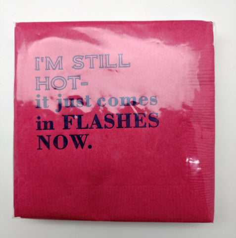 BEVERAGE NAPKINS - BFS - HOT FLASHES