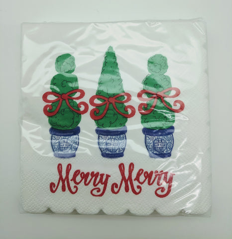 BEVERAGE NAPKINS - DTHY - MERRY MERRY