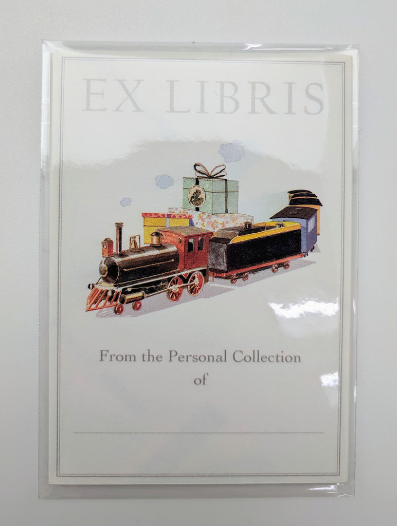 CHILDREN'S HOLIDAY BOOKPLATES - FD - PRESENT EXPRESS SET OF 5