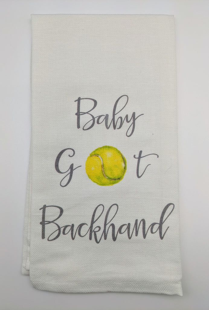 KITCHEN TOWEL - FG - BABY GOT BACKHAND TENNIS