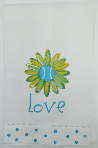 KITCHEN TOWEL - LDD - TENNIS LOVE DAISY BLUE