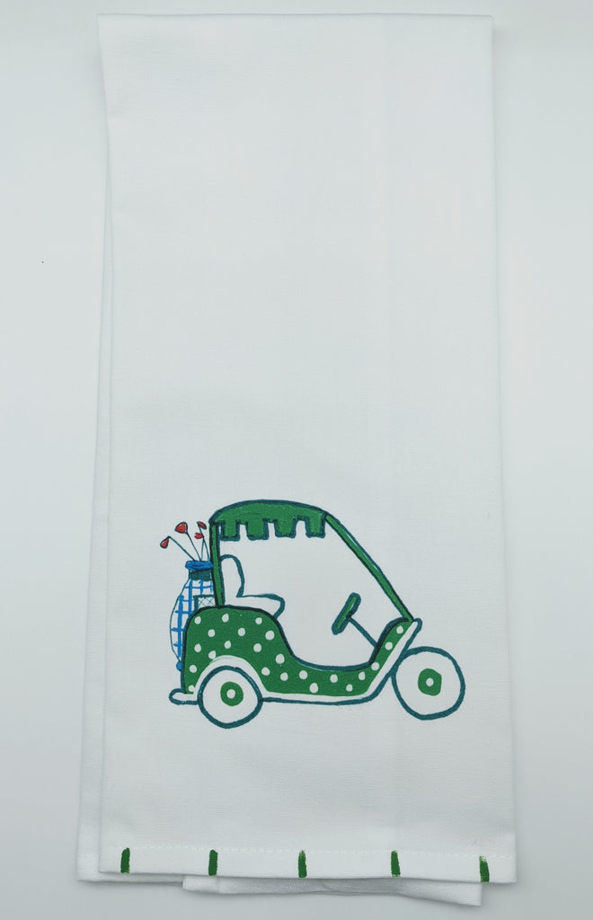 KITCHEN TOWEL - LDD - GOLF CART GREEN