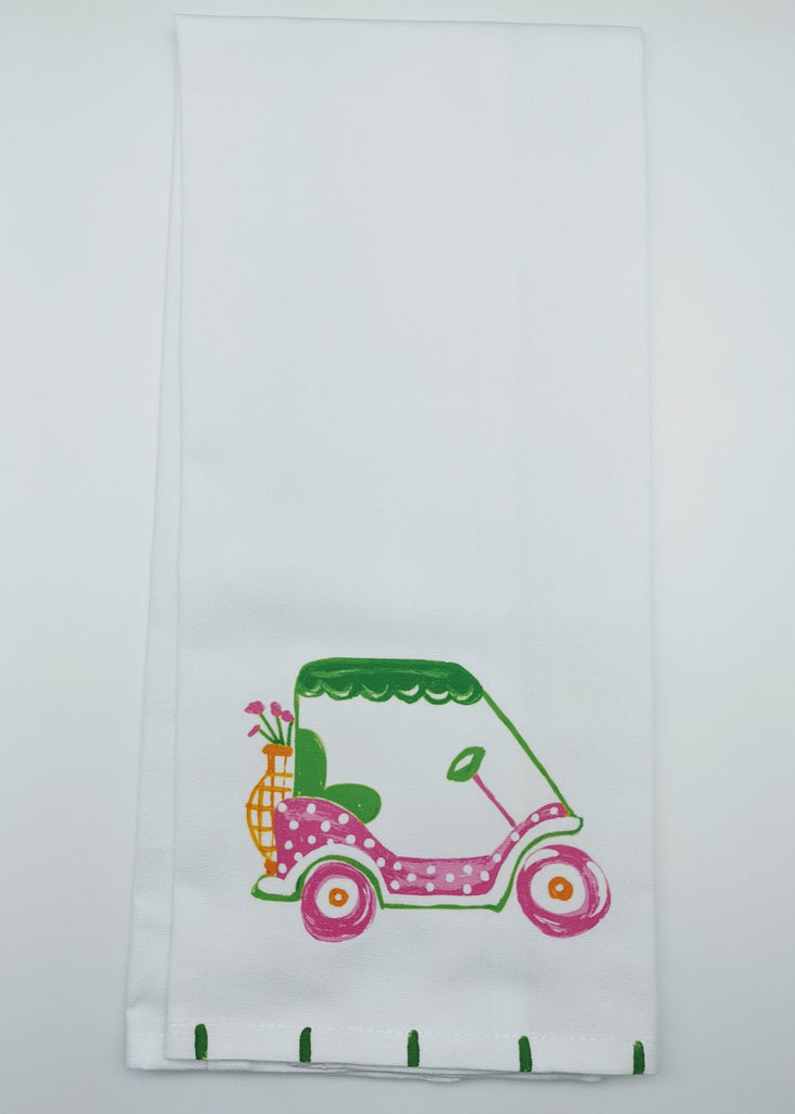 KITCHEN TOWEL - LDD - GOLF CART PINK