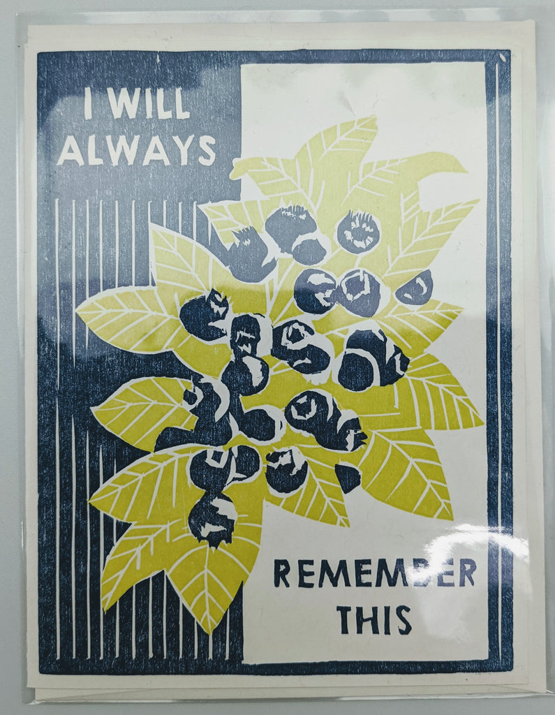 SENTIMENTAL BLANK CARD - HP - I WILL ALWAYS REMEMBER THIS