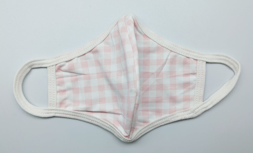 FACE MASK - BFS - CHILD PINK CHECK