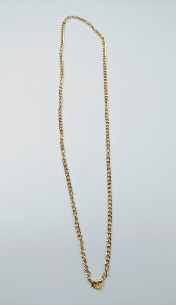 FACE MASK LANYARD - BFS - GOLD CHAIN