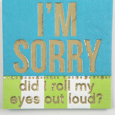 BEVERAGE NAPKINS - DTHY - DID I ROLL MY EYES