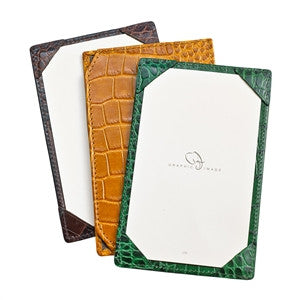 LEATHER JOTTER - GRAPHIC IMAGE - BROWN CROCODILE