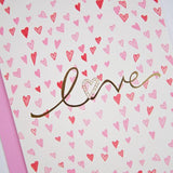 GOLD FOIL LOVE - GREETING CARD