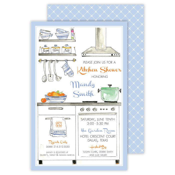 BOXED IMPRINTABLE INVITATIONS - RAB - KITCHEN SHOWER