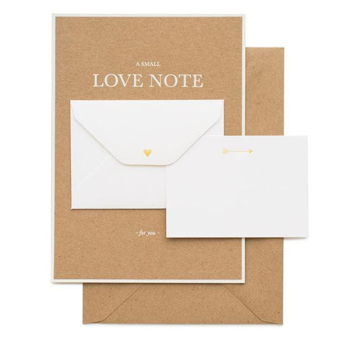 A SMALL LOVE NOTE - GREETING CARD
