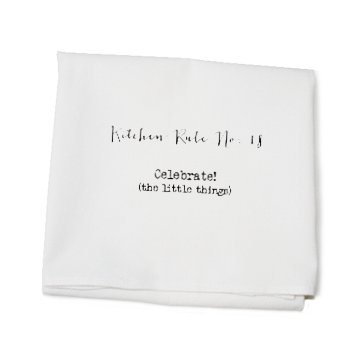 KITCHEN TOWEL - TLD - KITCHEN RULE NO. 18