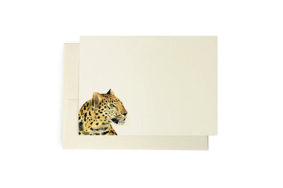 WATERCOLOR LEOPARDS - NOTECARDS