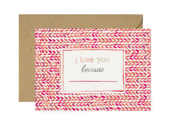 I LOVE YOUR... - GREETING CARD