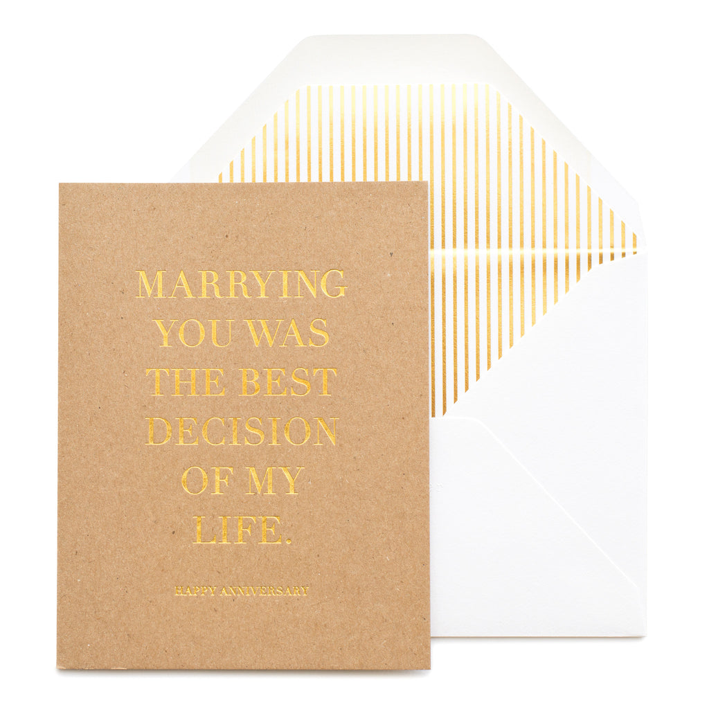 MARRYING YOU - ANNIVERSARY CARD
