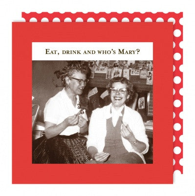 HOLIDAY BEVERAGE NAPKINS - SM- WHO'S MARY ?