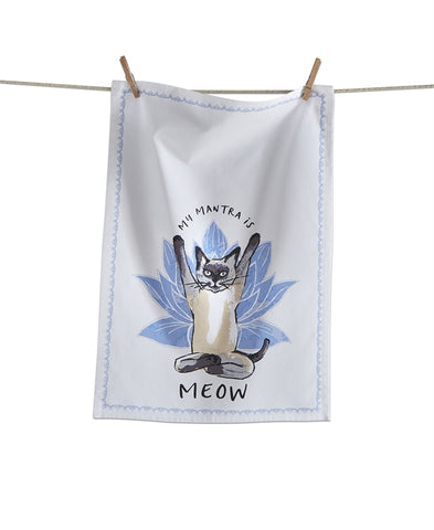 DISH TOWEL - TAG- MEOW MANTRA CAT
