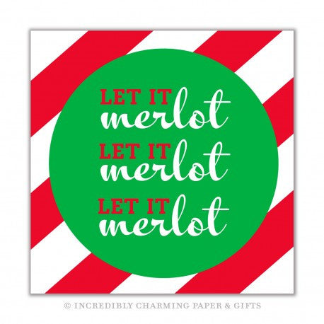 CHRISTMAS NAPKINS - ICPG - LET IT MERLOT