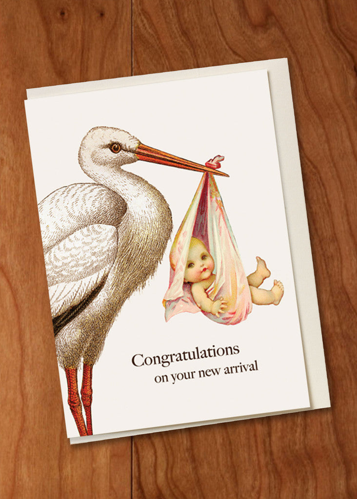 CONGRATULATIONS STORK MINI CARD