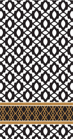 GUEST TOWELS - RAB - MIDNIGHT BLACK AND GOLD PATTERN