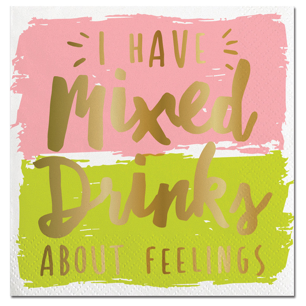 BEVERAGE NAPKINS - SL -  MIXED DRINKS ABOUT FEELINGS