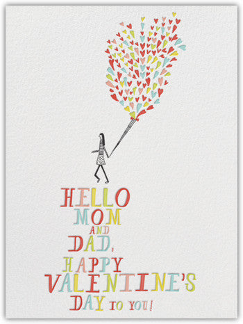 VALENTINE'S DAY MOM & DAD - GREETING CARD
