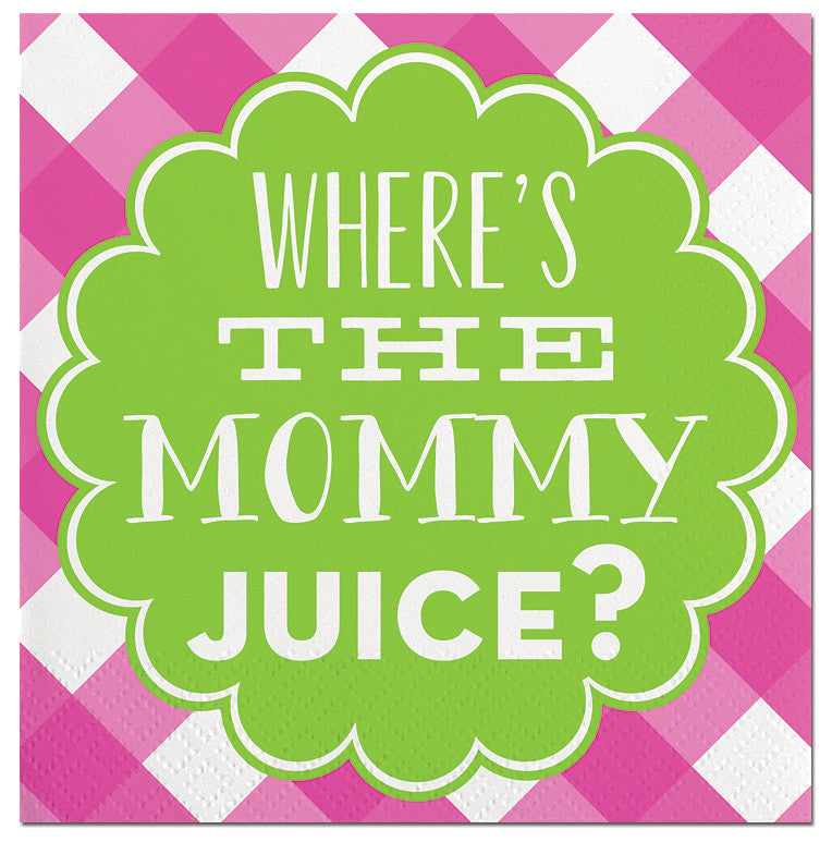 BEVERAGE NAPKINS - SL -WHERE'S THE MOMMY JUICE