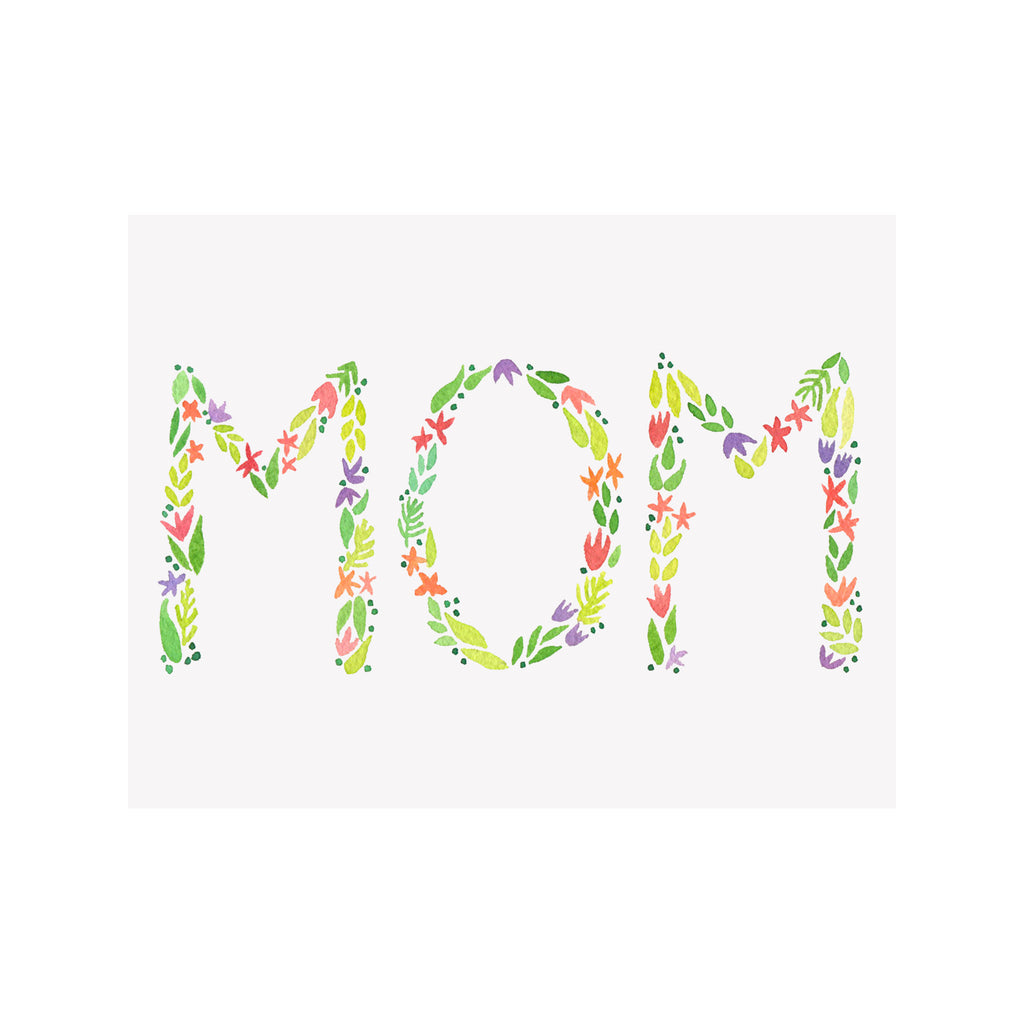 MOTHERS DAY  CARD - BI - FLORAL MOM