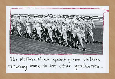 THE MOTHER'S MARCH GRADUATION - GREETING CARD