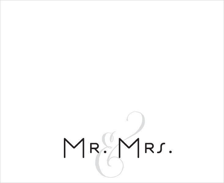 MR & MRS - LUXE NOTEPAD