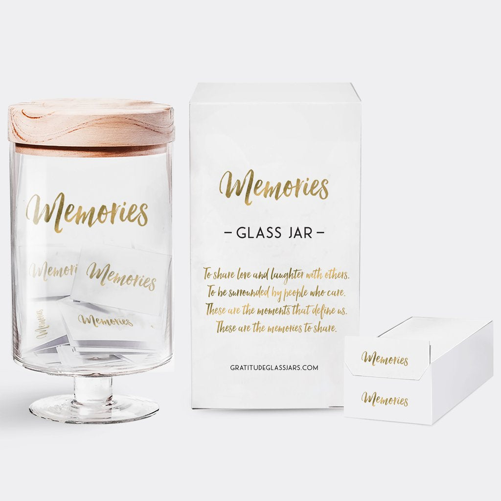 GRATITUDE GLASS JAR - CS - MEMORIES